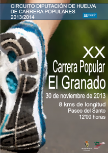 Cartel de la XX Carrera Popular de El Granado.