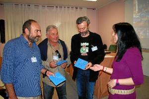 Presentación del libro en la prisión provincial de Huelva.