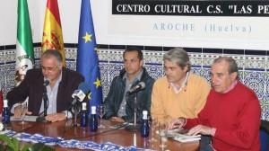 Sergi Barjuan y Fernando Iturbe en Aroche.