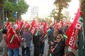 Protesta ante la Delegación del Gobierno de la Junta.