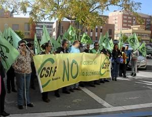 Protesta del CSIF contra los recortes de la Junta.