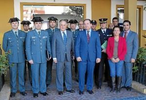 Participantes en la Junta Local de Seguridad en Aljaraque.