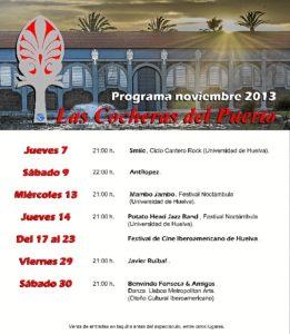 Cartel de la programación en Las Cocheras del Puerto.