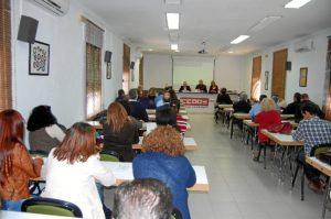 Reunión de afiliados a CCOO.