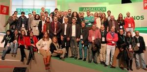 Delegación onubense en el Congreso de Granada.