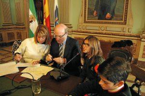 Pleno infantil 2013. Alcaldesa Ana Losada (2)
