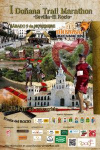Cartel del I Doñana Trail Marathon.
