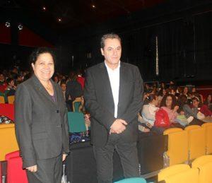 La presidenta del Puerto y el director del Festival de Cine.