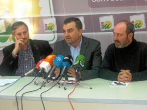 Willy Meyer, Antonio Maillo y Pedro Jimenez.