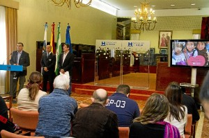 Un momento del acto en la Diputación.