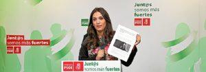 María Márquez en rueda de prensa.
