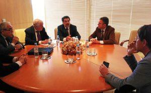 Reunión de Javier Barrero con el Colegio de Abogados.