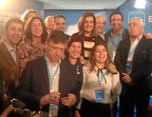 Foto de familia de los integrantes de la interpalamentaria del PP de Huelva.