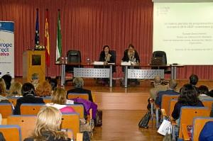 Conferencia sobre fondos europeos.