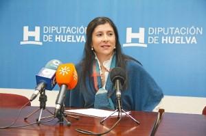 Esperanza Cortés, en rueda de prensa.
