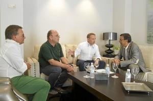 Reunión en la Diputación Provincial de Huelva.