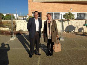 Visita del delegado al CEIP Triana de Trigueros.