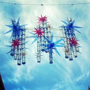 Originalidad en las luces de Navidad de Hinojos.