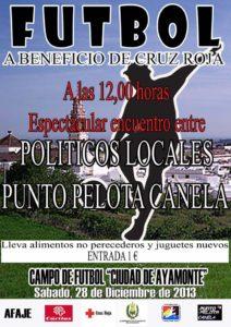 Partido políticos contra punto pelota canela en Ayamonte.