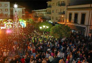 Alumbrado navideño en San Juan.