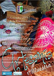 Cartel de la muestra de artesanía que va a celebrar Villablanca.