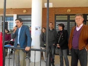 El delegado durante la celebración del Día de la Constitución en el CEIP.