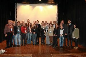La delegación de empresarios durante su visita a Ayamonte.