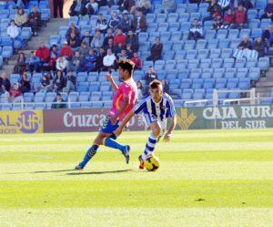 Álvaro Antón ante Masoud, de Las Palmas. (Espínola)