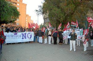 Protesta de las limpiadoras de la UHU.