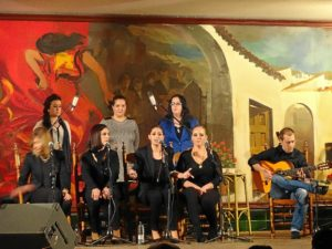 Los vencedores del I Certamen Nacional de Villancicos en Huelva.