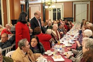 Acto con los mayores de Huelva.