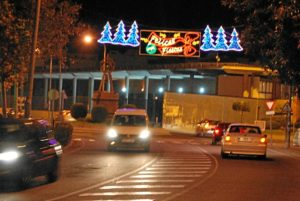 Alumbrado navideño en Isla Cristina.