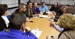 Reunión de responsables socialistas en Punta del Moral.