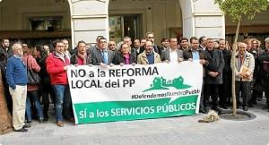 Protesta contra la Reforma Local.