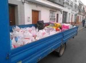 Productos recogidos en San Juan del Puerto en la campaña.