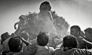 Traslado de la Virgen del Rocío. (Julián Pérez)