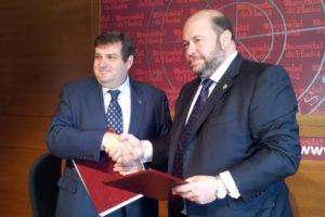Convenio Universidad con el Recreativo de Huelva.