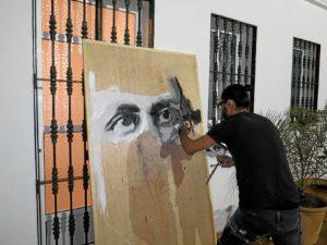 Fornieles pinta al joven Juan Ramón.