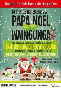 Cartel anunciador de la llegada de Papá Noel a Waingunga.