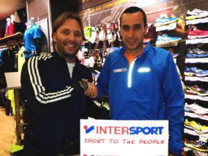 Convenio Intersport con Miguel Beltrán.