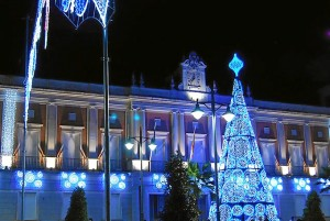 Imagen de archivo del alumbrado navideño en Huelva.