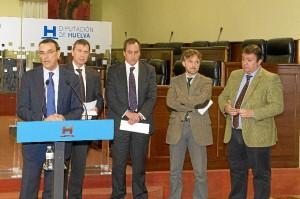 Rueda de prensa en la que se ha presentado el proyecto minero en Valverde.