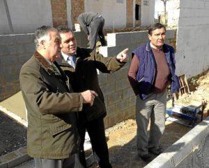 20140124 Subdelegado La Palma obras PROFEA calle Camino Viejo Bollullos