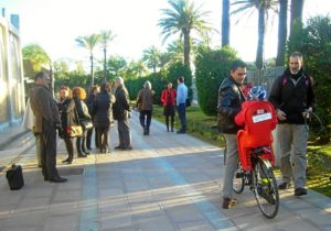 Asistentes a la asamblea de IU sobre Plan Andaluz de Bicicleta.