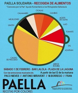 Cartel paella solidaria