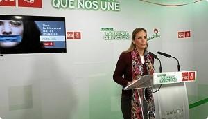 Elena Ruiz en rueda de prensa.