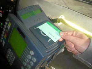 La tarjeta activa del consorcio metropolitano de transportes.