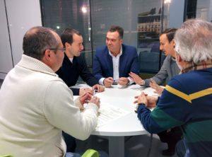 Firma de convenio entre el Ayuntamiento de La Palma y la La Palma CF.