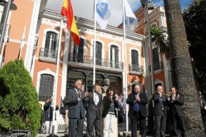 Izado bandera 125 aniversario Recre