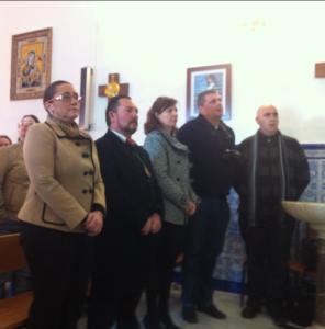 La Alcaldesa en la Misa de Apertura del 75 Aniversario de la llegada de la Virgen a Pozo.